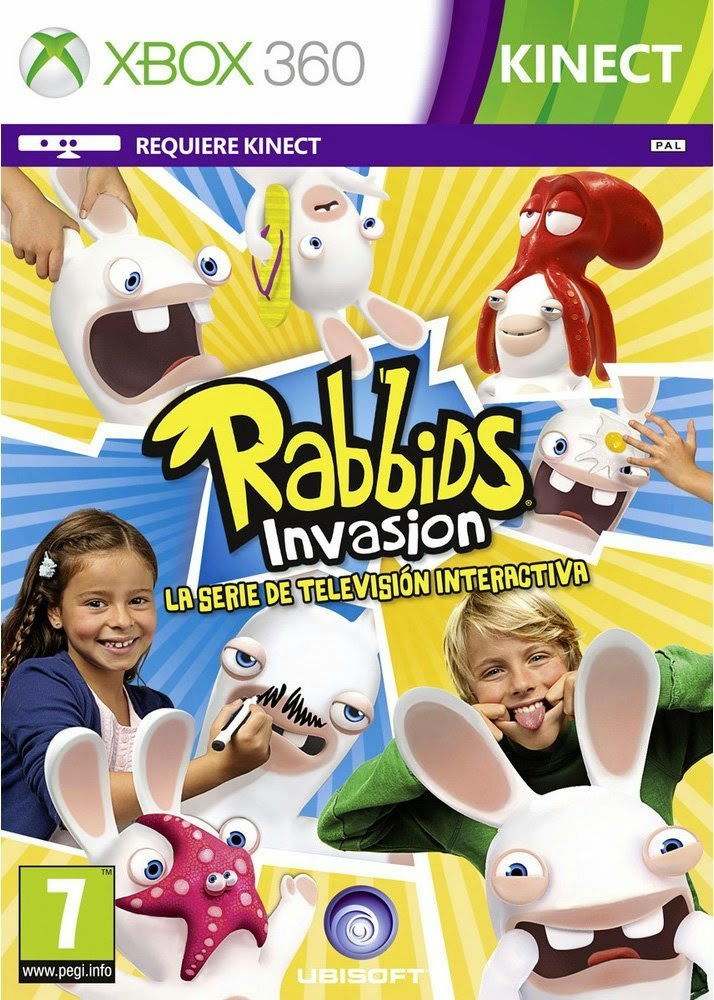 Rabbids Invasion XBOX 360 Cover Caratula