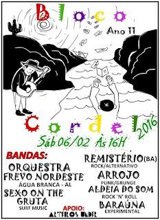 Bloco Cordel animará o Sábado de Carnaval em Delmiro Gouveia, confira a programação