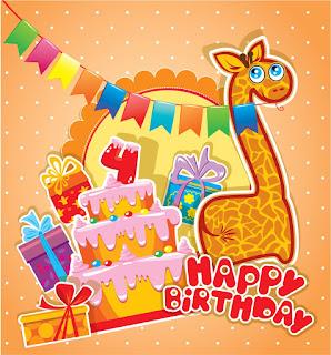 Download Gratis Desain Banner Ulang Tahun Anak 4 Tahun ...