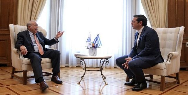 Αλέξης Τσίπρας - Ανχέλ Γκουρία: Ώρα για ελάφρυνση του χρέους (vid)
