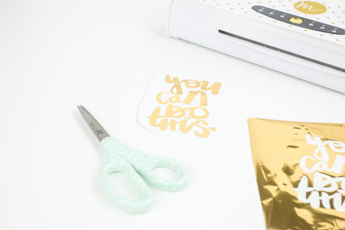 DIY Foiled Vinyl by @createoften