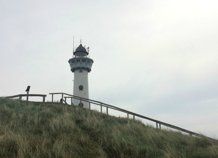 Lighthouse on a stormy day in Egmond aan Zee, Noordholland