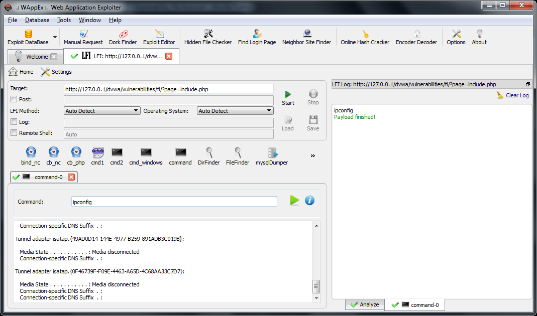 WAppEx v2 0] Web Application Exploitation Tool