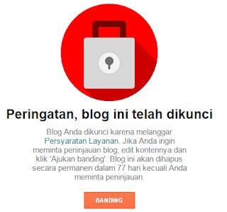 Cara mengembalikan blog yang dibanned Google.