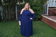 Navy Blue Plus Size Maxi Dresses