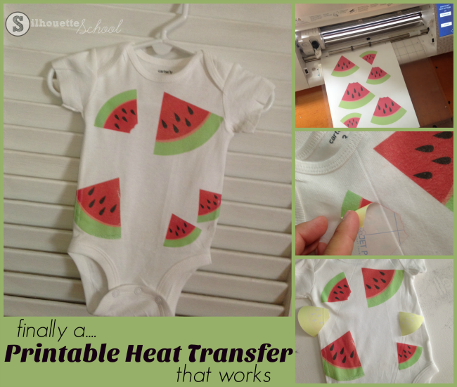Silhouette CAMEO tutorial printable heat transfer vinyl