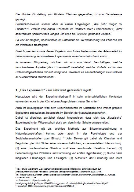 Einführung in die Fachdidaktik: Wissenschaft zum Anfassen - Schüler ...