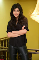 Shruti Haasan Looks Stunning trendy cool in Black relaxed Shirt and Tight Leather Pants ~ .com Exclusive Pics 076.jpg