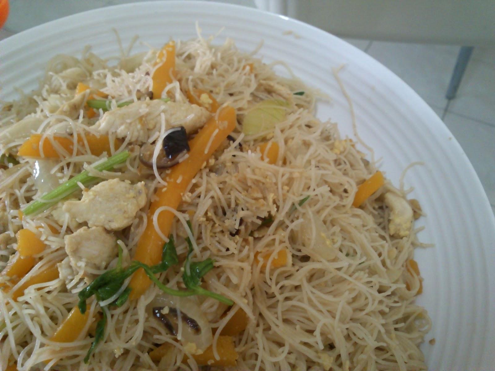 美味情緣: 金瓜炒米粉 Pumpkin Fried Mee Hon