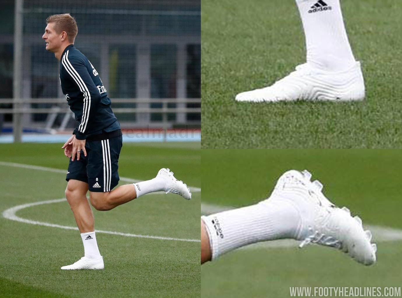 787705be4cc Despite his whiteout Adidas Copa boots being heavily customized by Adidas