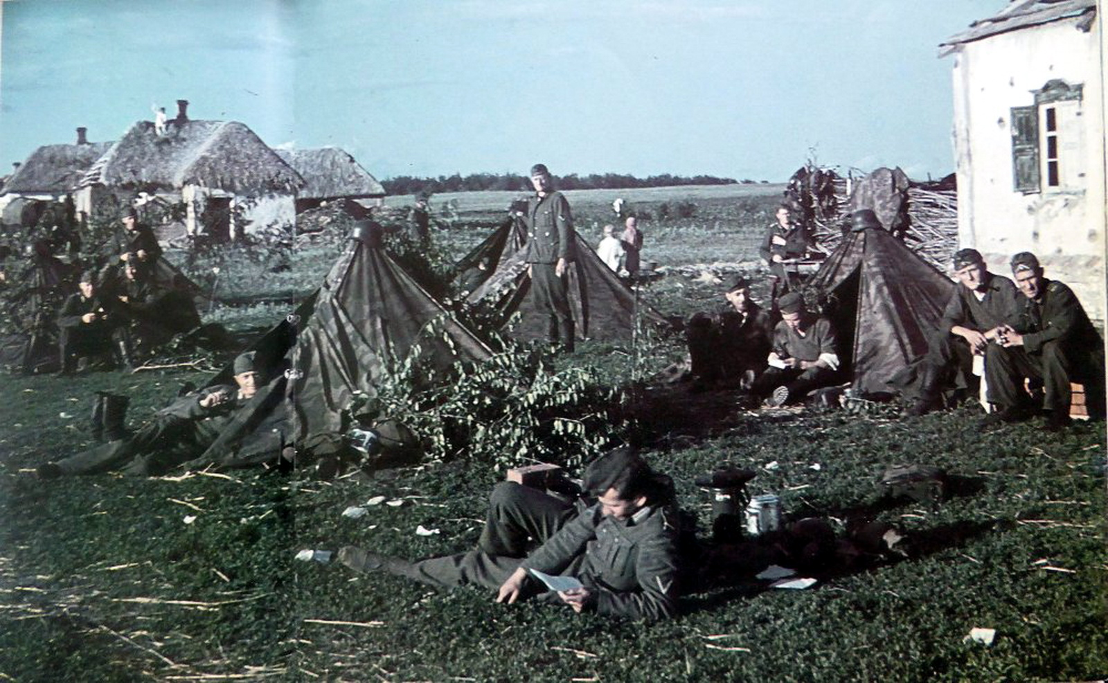 Image result for ww2 german soldiers in tents