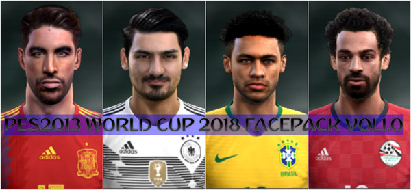 PES 2013 World Cup 2018 Facepack Vol1.0
