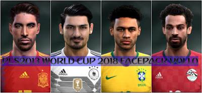 PES 2013 World Cup 2018 Facepack Vol1.0