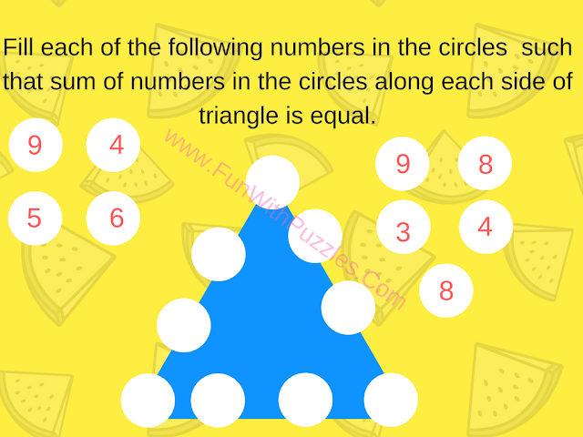 Math Number Triangle Puzzle-3