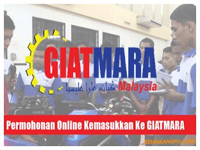 Permohonan Kemasukan Ke Pusat Kemahiran GIATMARA 2018 Online