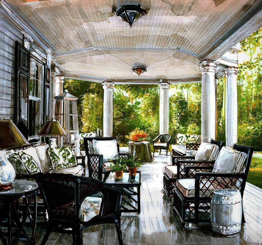 06-Furnituure-and-the-Porch-Andrea-Prandini-Interior-Design-Drawings-and-Paintings-www-designstack-co