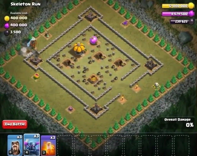 54. Skeleton Run Goblin Base COC
