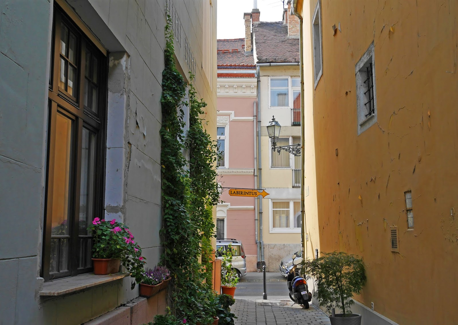 Pretty side streets on the Buda side of the city, Budapest