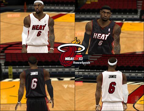 new arrival 354e2 066e7 NBA 2K12 Miami Heat HD Jersey Patch - Finals
