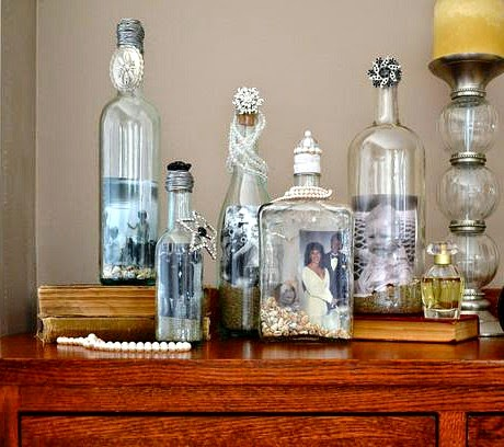Recycling old Bottles for Coastal Decor
