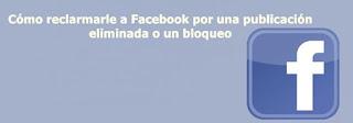 Cómo reclamar a Facebook por una publicación eliminada