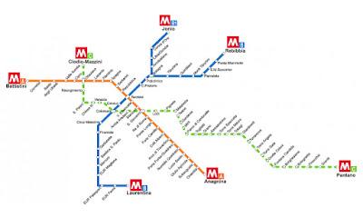 Líneas del metro de Roma