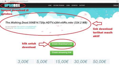 cara download di uptobox