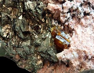 Sphalerit und Pyrit
