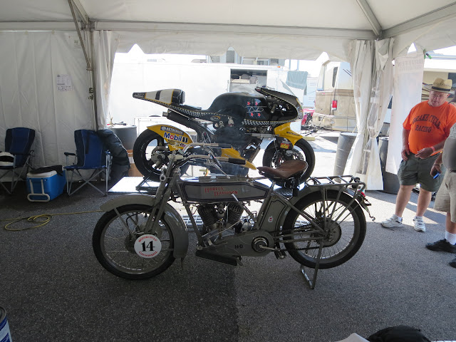1914 Harley-Davidson and 1994 Britten V1000