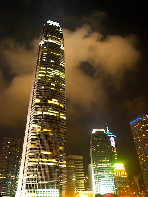 IFC at night, Central, Hong Kong