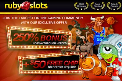 Ruby Slots Casino Welcome Bonus