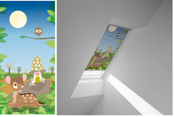 Bambi Inspired Disney VELUX Blinds
