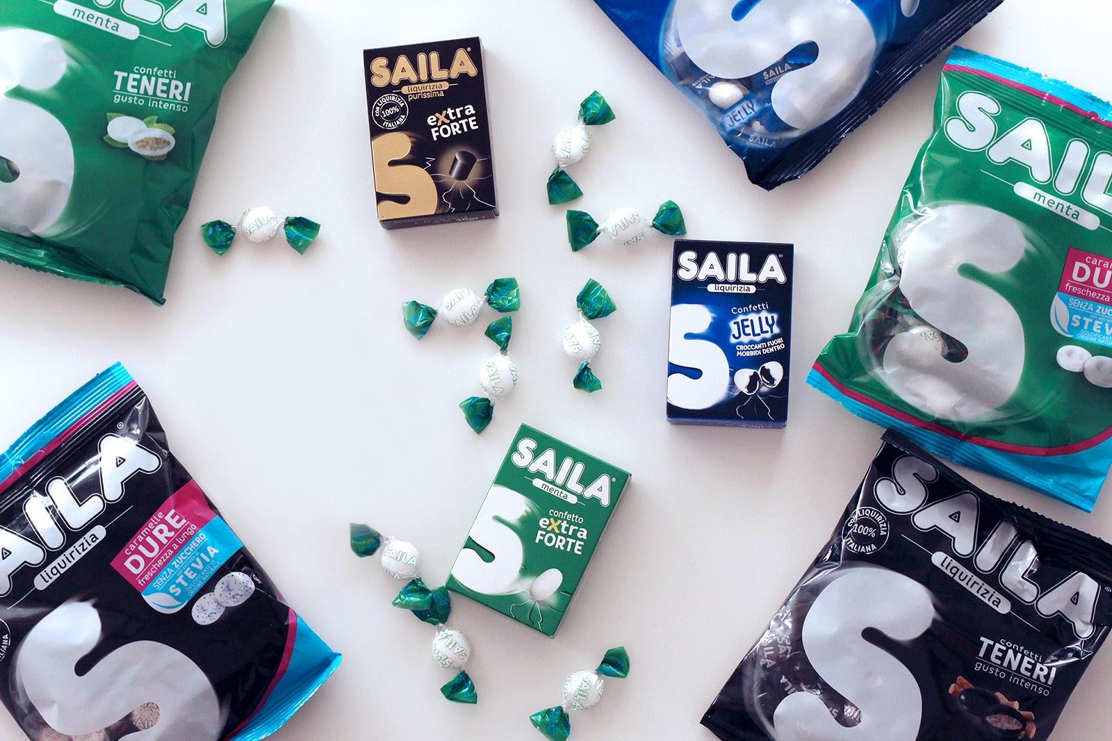 Le nuove caramelle saila gusto liquirizia e menta