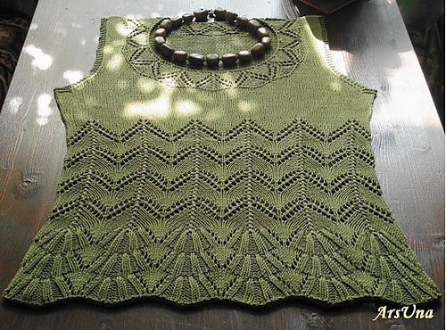 Top with Lace Pattern - Free Knit Pattern