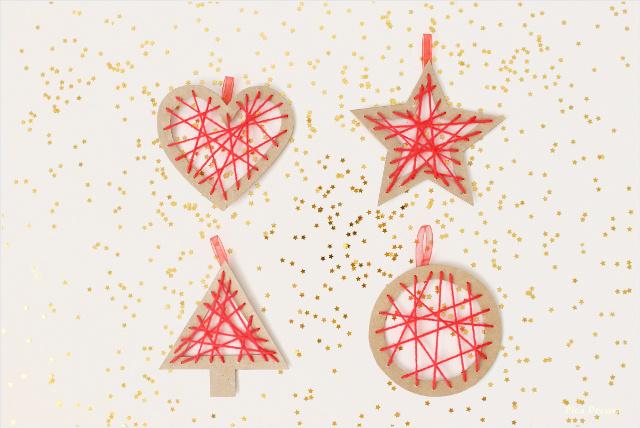 como-hacer-adornos-navidad-carton-reciclado-lana-diy-figuras-lana-cruzada