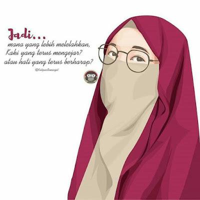 Foto Kartun Muslimah Cadar