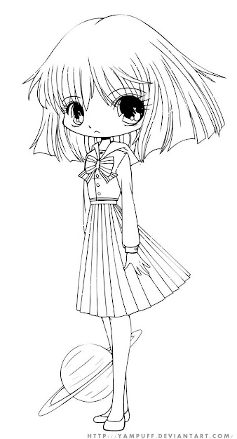 Chibi Coloring Pages  Hotaru Colouring Pages