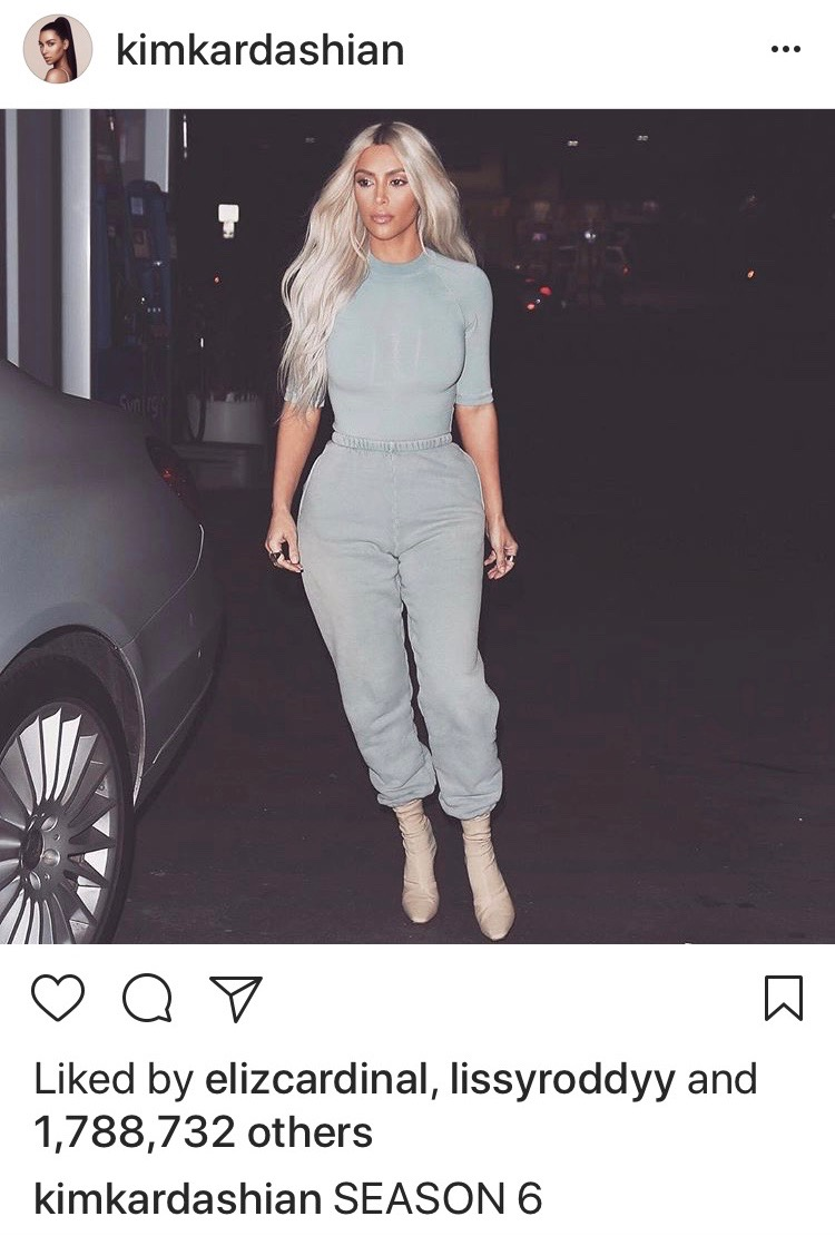 93e3aec3d071 Kim began posting paparazzi photos of her in head-to-toe Yeezy in January