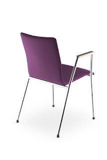 Scaun vizitator conferinte Cadeira 4L-Arm Plus spate