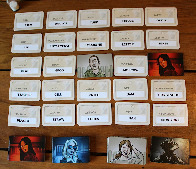 Codenames word grid in progress