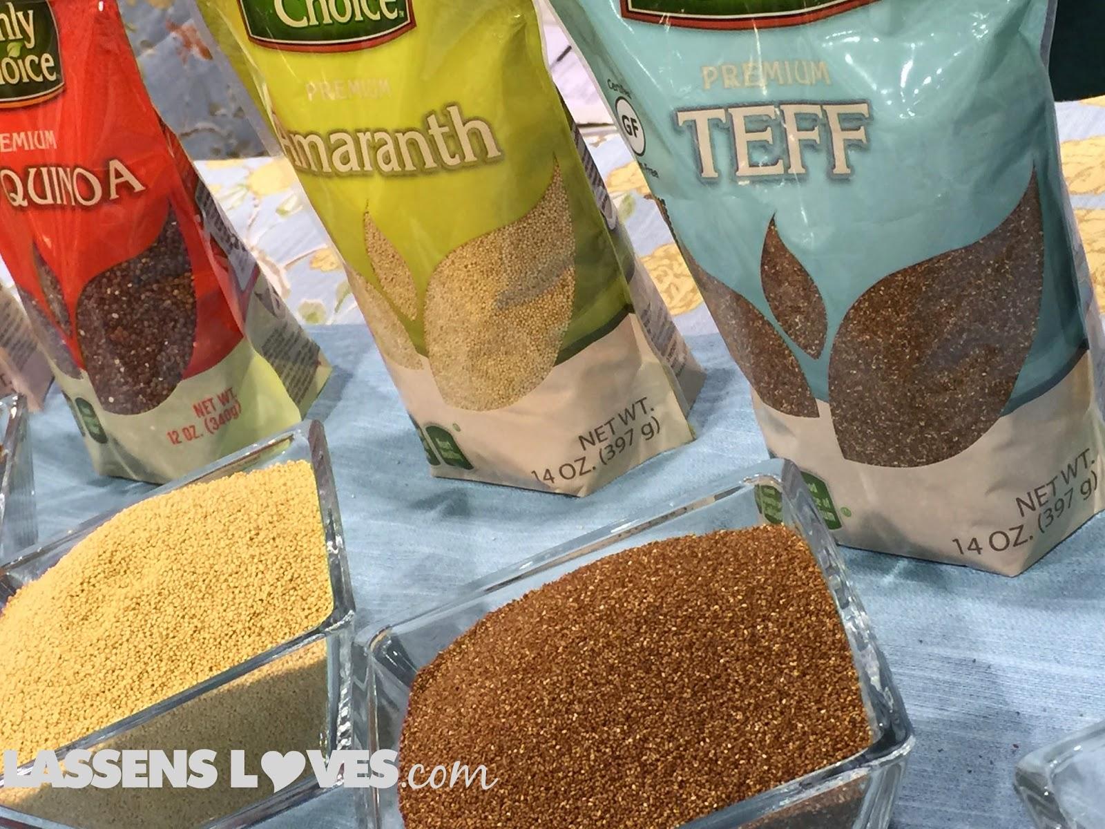 Expo+West+2015, Natural+Foods+Show, New+Natural+Products, quinoa+grains, amaranth+grain, teff+grain