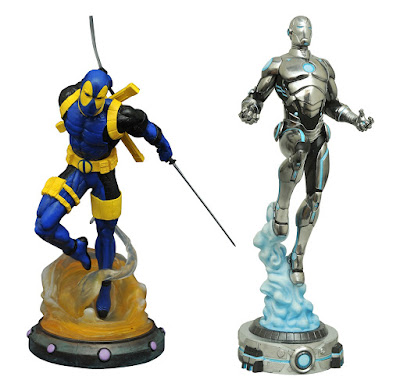 San Diego Comic-Con 2017 Exclusive Marvel Gallery Deadpool & Superior Iron Man PVC Statues by Diamond Select Toys