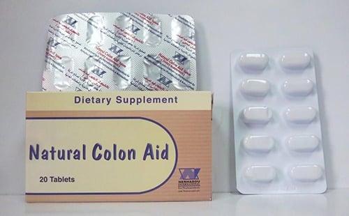 سعر ودواعي إستعمال أقراص ناتشيورال كولون أيد Natural Colon Aid مكمل غذائى