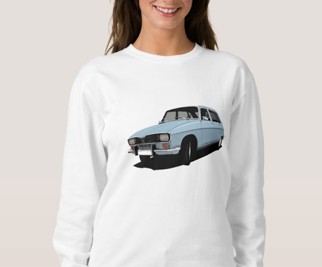 Renault R16 TL turquoise classic car shirt
