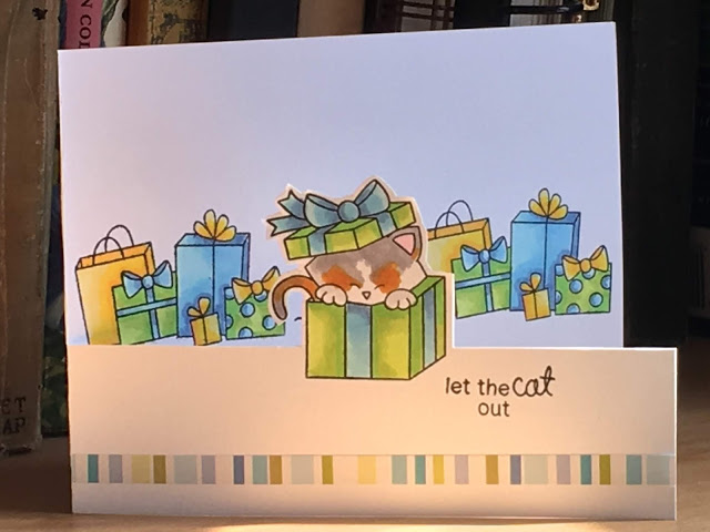 Let the cat out by Sue features Newton's Christmas Cuddles and Newton's Birthday Bash by Newton's Nook Designs; #newtonsnoo
