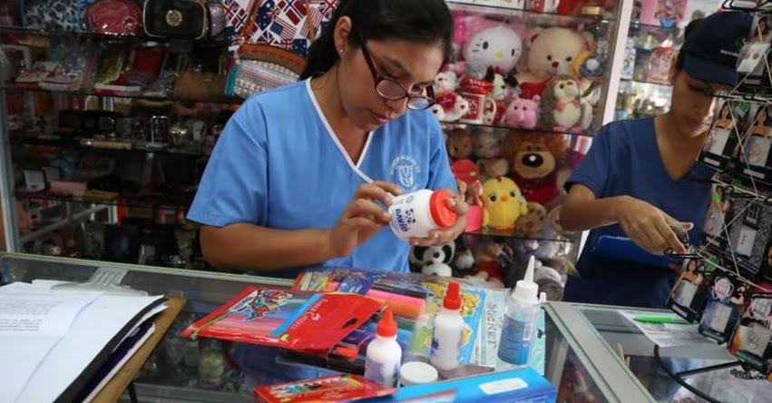 Fiscalizan venta de útiles escolares en Miraflores