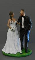 statuette cake topper milano matrimonio a tema sposini tifosi orme magiche