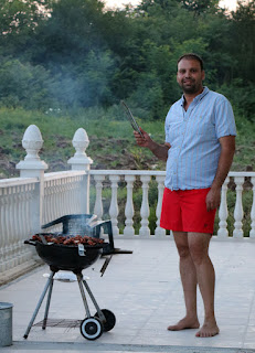 Ivan in charge of the BBQ