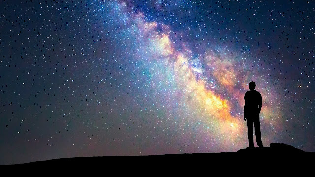 Fotografía Vía Láctea desde la Tierra