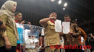 Tanda Tangan Kontrak Politik Prabowo Subianto Dengan Buruh Indonesia